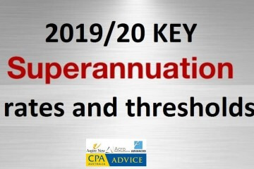 The ATO has just released some of the key super thresholds which will apply for the 2019/20 financial year.